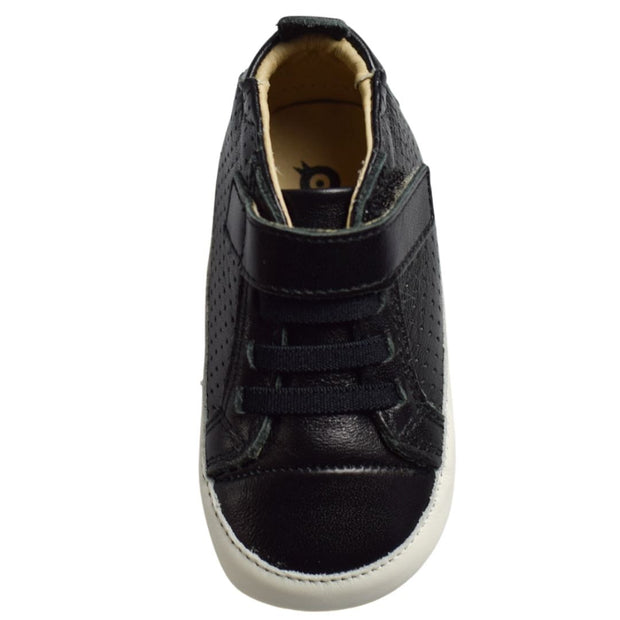 Old Soles Cheer Bambini Nero overhead with faux laces