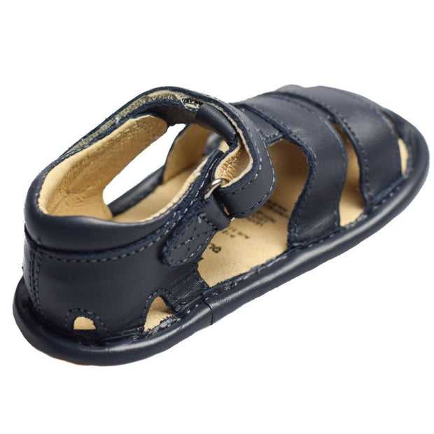 Old Soles Sandy Sandal in navy for toddlers  hook and loop closure