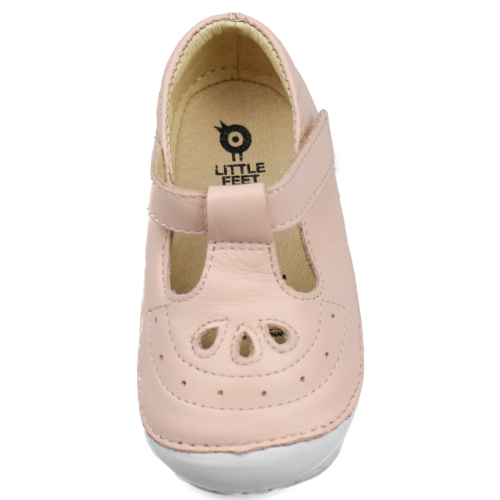 Old Soles Royal Pave T-Bar Powder Pink Overhead