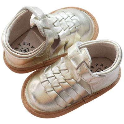 Pretty Brave Piper Gold Baby sandals