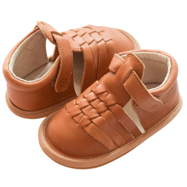 Pretty Brave Piper Sierra tan baby sandals