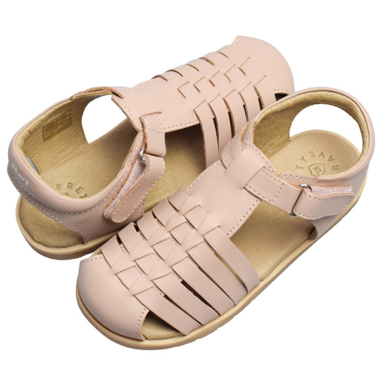 Pretty Brave Blush sandals for toddlers and preschoolers
