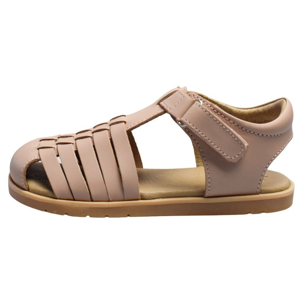 Pretty Brave Blush leather sandals side view