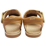 Pretty Brave Frankie sandals with branding
