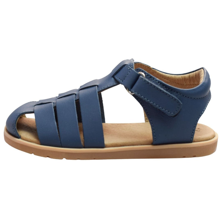 Pretty Brave Rocco sandals in navy side view