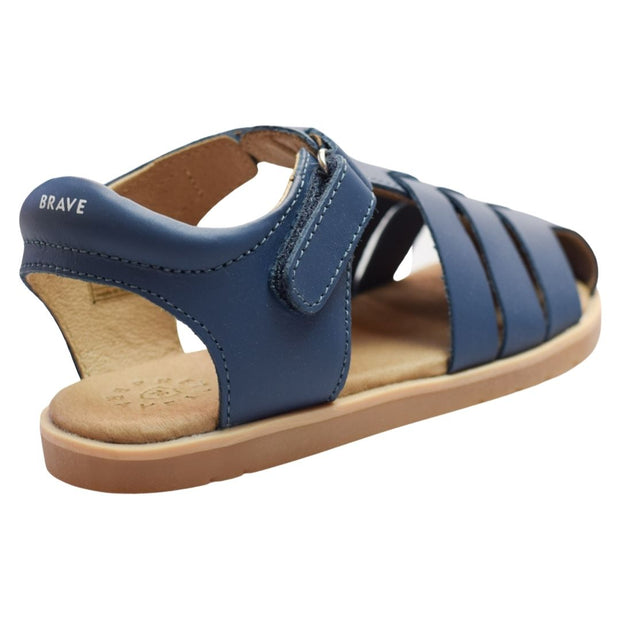 Pretty Brave Rocco denim sandals velcro strap view