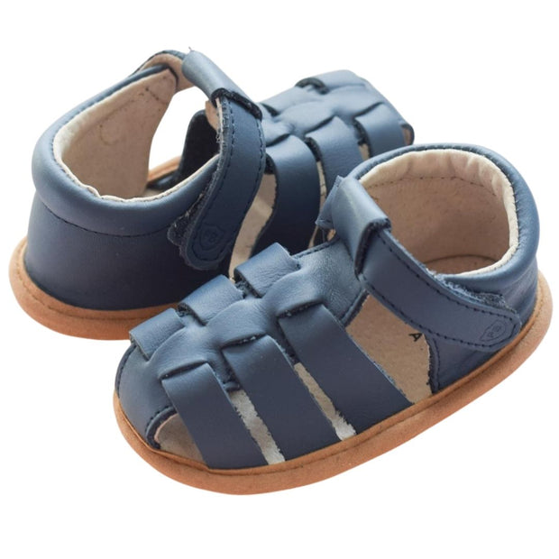 Pretty Brave Rio Denim leather baby sandals