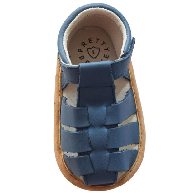Pretty Brave Rio Denim toddler sandals overhead view