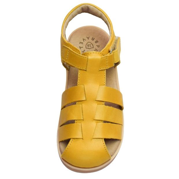 Pretty Brave Rocco leather sandals for toddlers overhead view