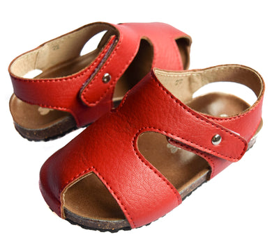 ScruffyDog Buddy Sandals Red front view