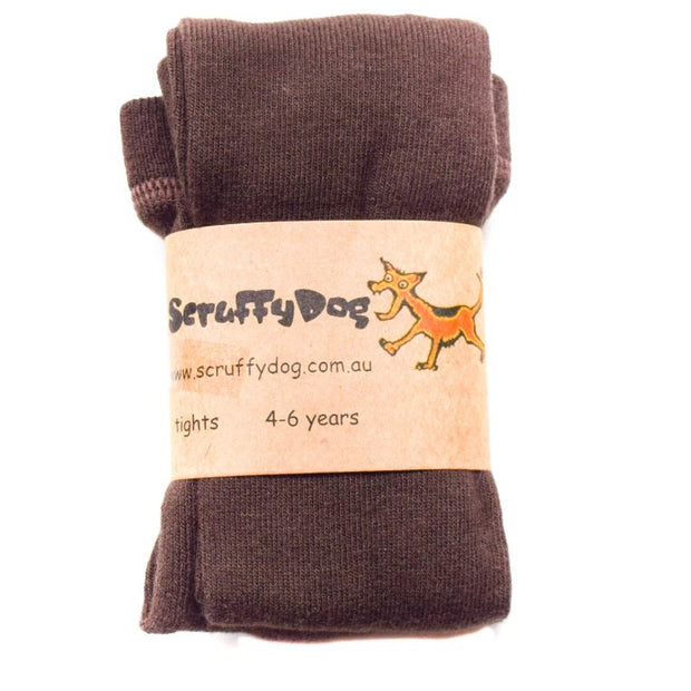 SCRUFFYDOG Chocolate Brown Tights