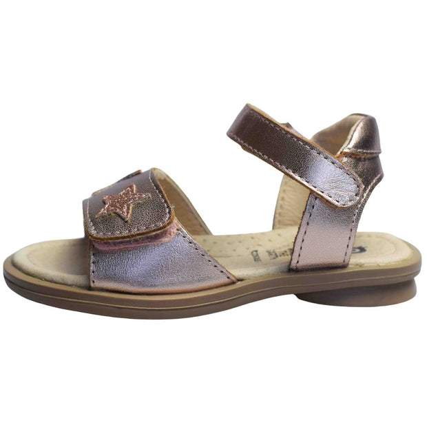 Old Soles Star Born Copper Glam Girl sandals side view