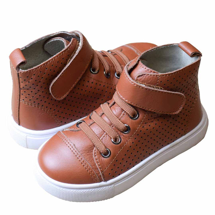 TIKITOT BROOKLYN Vintage Brown High Tops