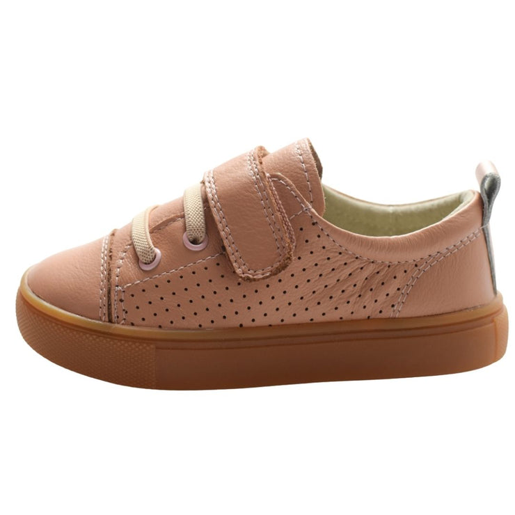 Tikitot leather sneakers for toddlers side view