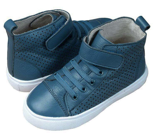 TIKITOT BROOKLYN Petrol Blue High Tops