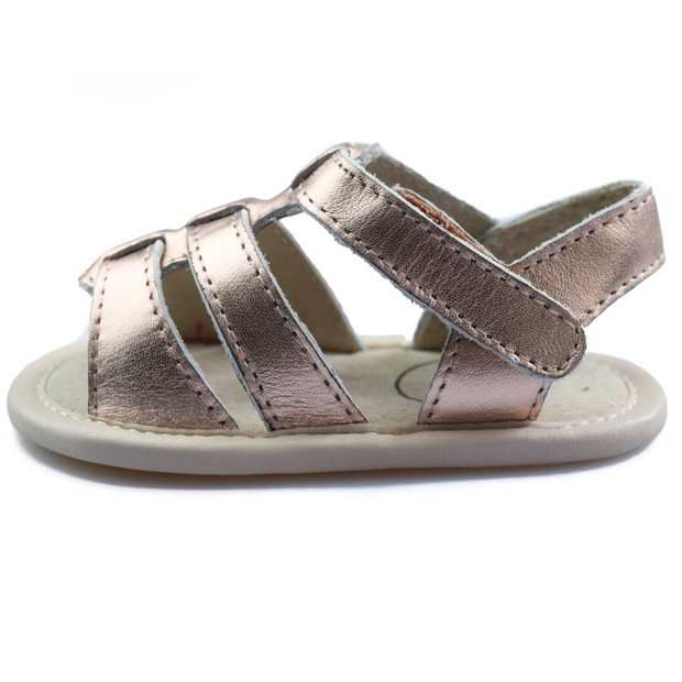 TIKITOT AMALFI Rose Gold Baby Sandals
