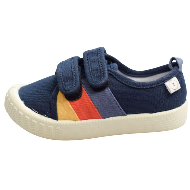 Walnut Kids shoes navy canvas side view