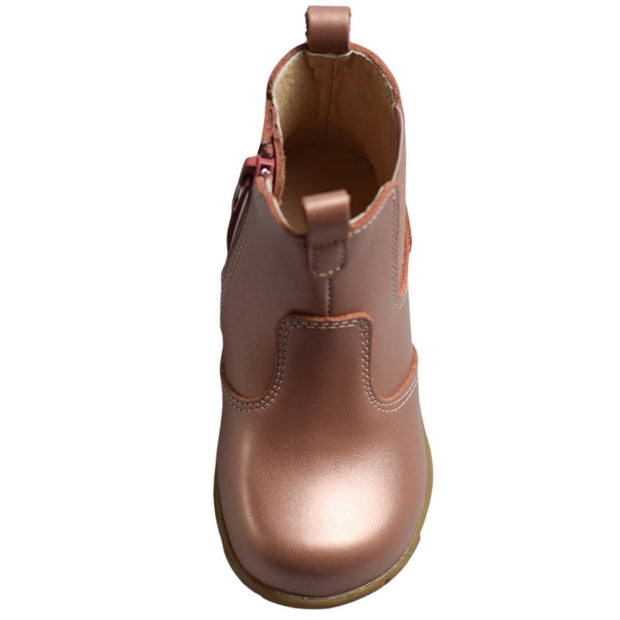 Walnut Kids Shoes rose gold boots for toddlers