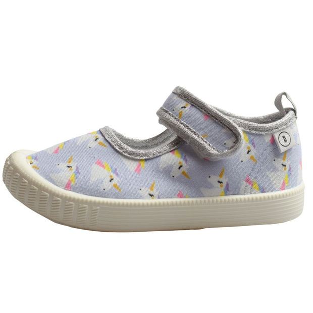 Walnut Melbourne Rocky unicorn toddler canvas shoes side view