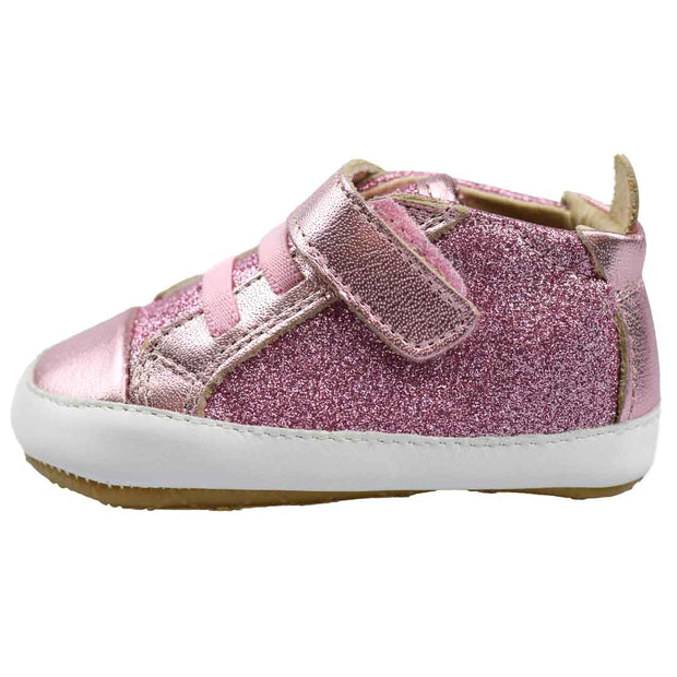 OLD SOLES CHEER GLAM Pink Frost Baby Shoe