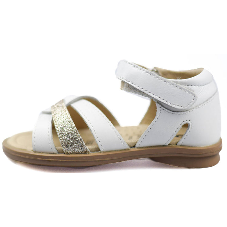 Old Soles Clarise White Sandals for girls side view