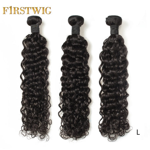 Brazilian Hair Weave Bundles 28 30 inch Natural Human Hair Bundles Remy Water Wave extensions 3 pieces For Black Women Firstwig