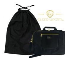 Load image into Gallery viewer, Gilded Imports Designer Laptop Bag 15.6-Inch Lightweight Black & Gold