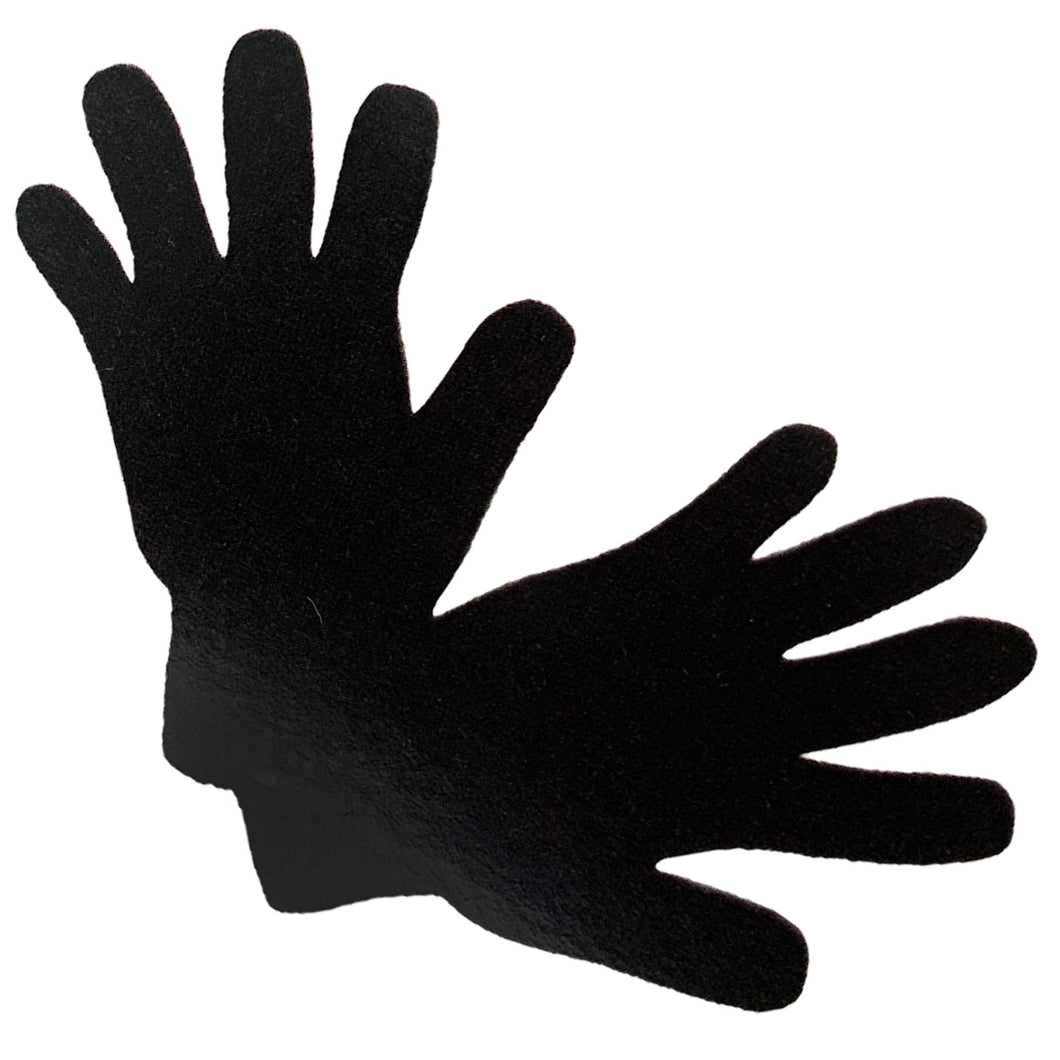 Truzealia Finest Possum Merino Blend Kid's Gloves - Black Size 3 -4 Years and 6-8 Years