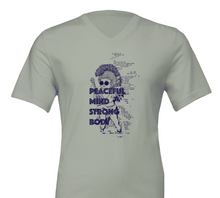 Load image into Gallery viewer, Peaceful Mind Strong Body - Premium Unisex V-Neck T-shirt
