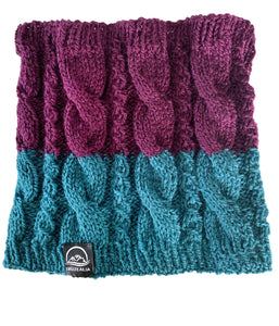 Two Tone Cable Stitch Neck Warmer – Pure Wool - Truzealia