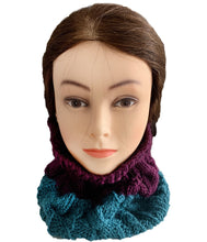 Load image into Gallery viewer, Two Tone Cable Stitch Neck Warmer – Pure Wool - Truzealia