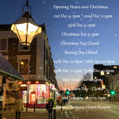 Christmas Opening Hours | Map Gift Shop