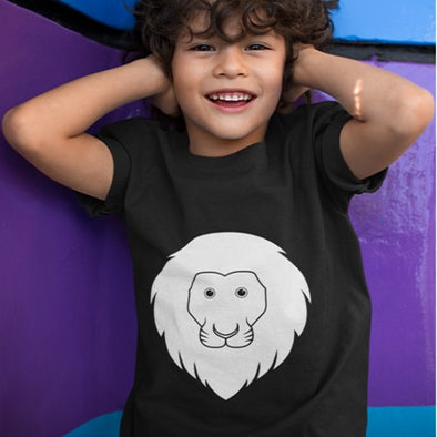 Glow T shirt Unisex Lion Design Age 3-4