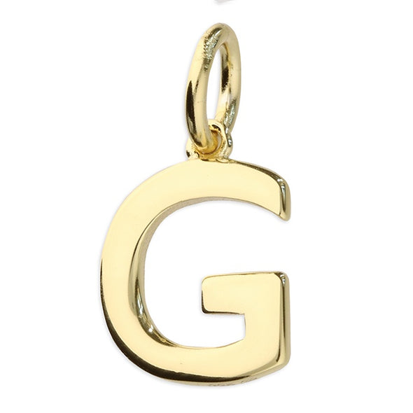Gold Plated Silver Initial Necklace - G