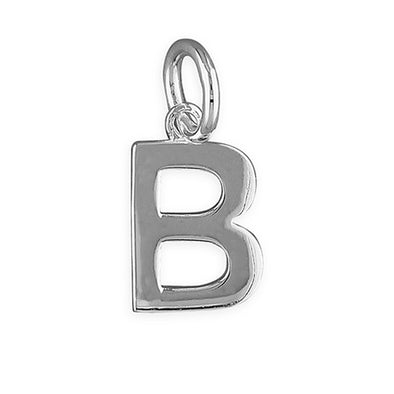 Silver Initial Necklace - B