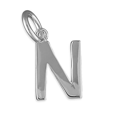 Silver Initial Necklace - N