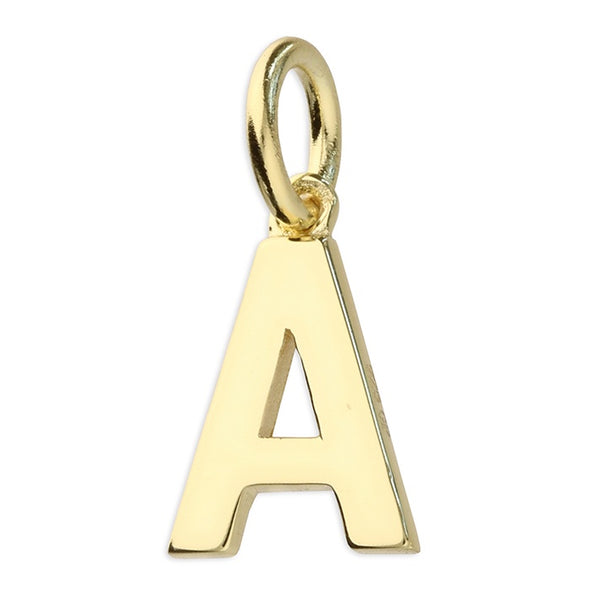 Gold Plated Silver Initial Necklace - A