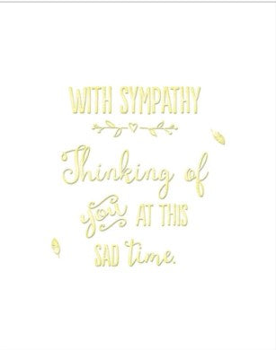 With Sympathy - Thinking of You