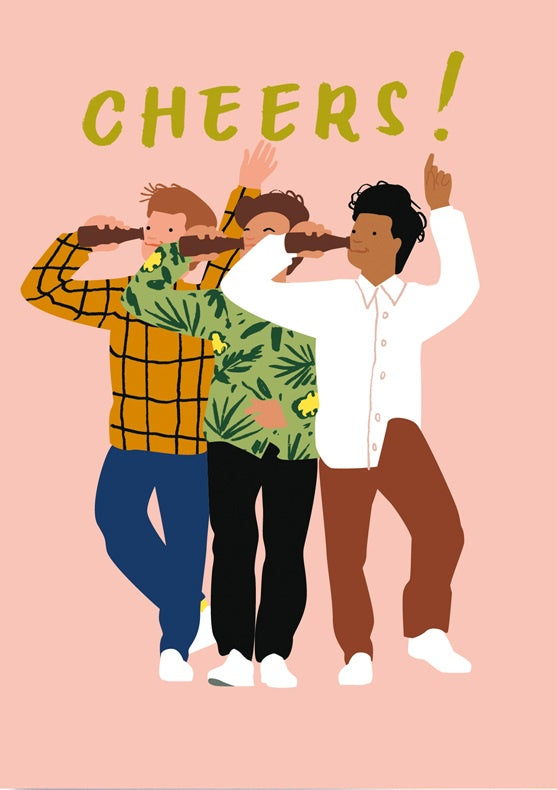 'Cheers Guys' Greeting Card