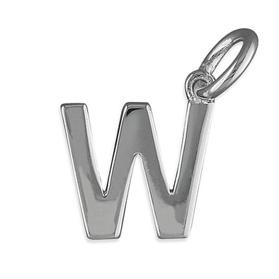 Silver Initial Necklace - W