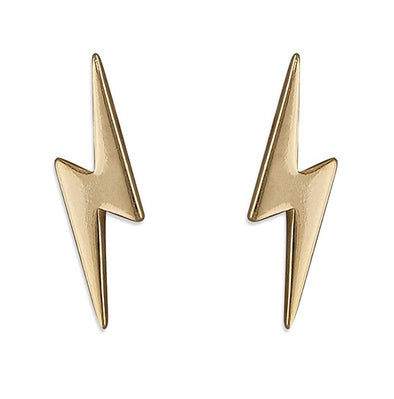 Ziggy Gold Plated Stud Earrings