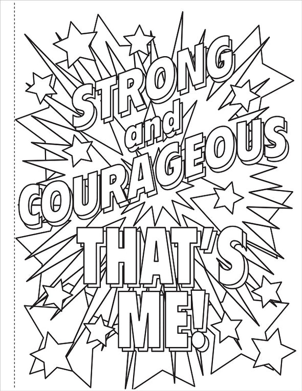 Brave Strong and Smart Colouring Book