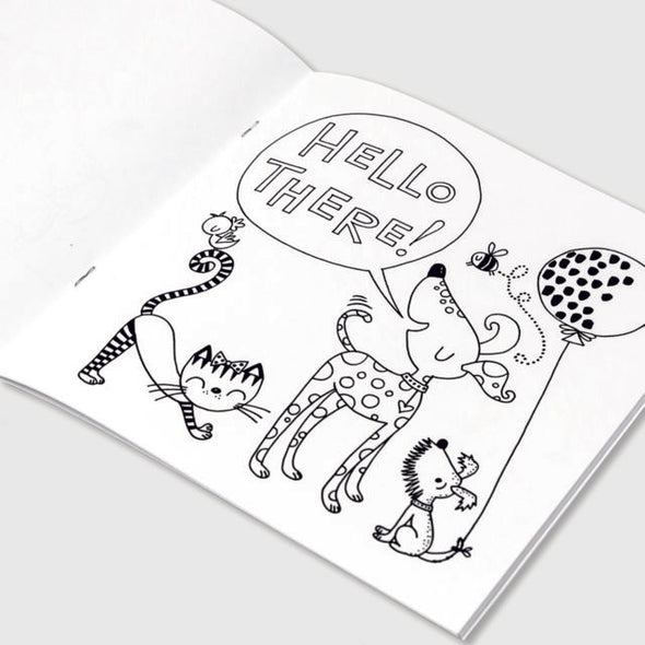 Dogs and Cats Colouring Book