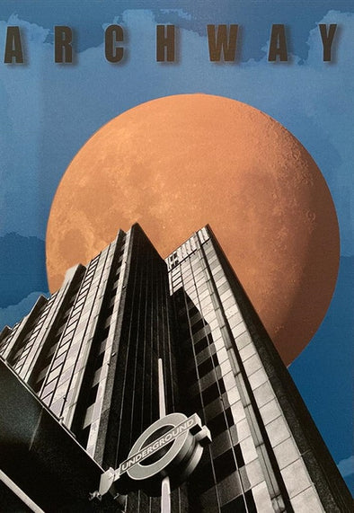 Archway Tower with Moon postcard