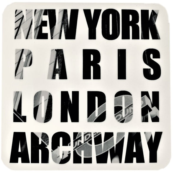 New York Paris London Archway Coaster