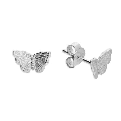 Red Admiral Silver Butterfly Studs