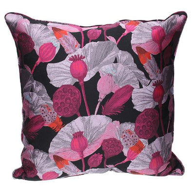 Poppy Head Jacquard  Cushion