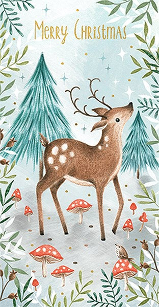 Christmas Deer in Forest Money Wallet