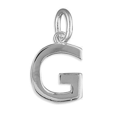 Silver Initial Necklace - G