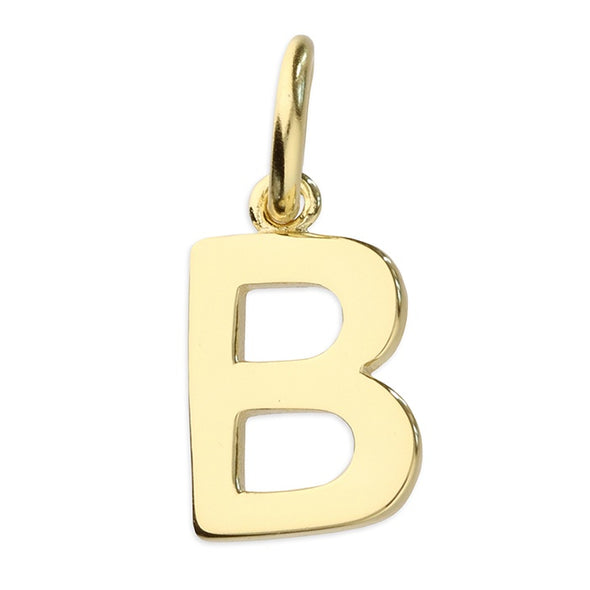 Gold Plated Silver Initial Necklace - B